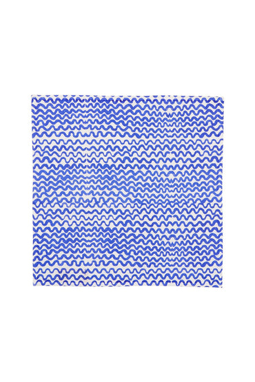 BONNIE & NEIL TINY WAVES NAPKINS YVES KLEIN BLUE (SET OF 6)