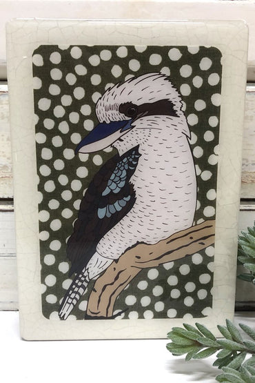 LOST & FOUND ART CO MEDI WOODBLOCK KOOKABURRA
