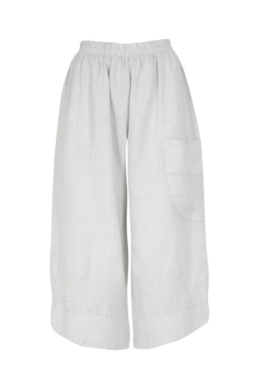 RIDLEY THE SUMMER 3/4 LINEN PANT WHITE