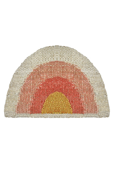 LANGDON AQUARIUS DOORMAT PEACH/GOLD