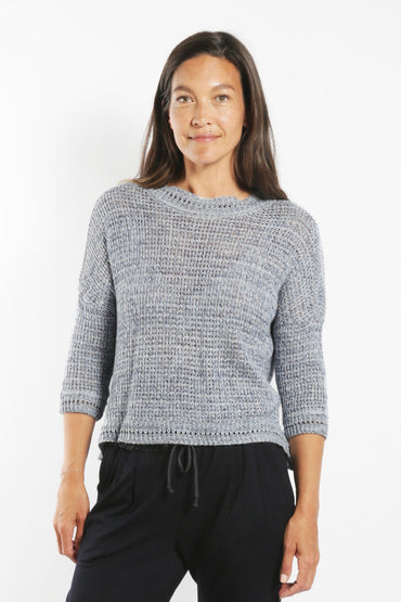 SABATINI OPEN CROCHET JUMPER SEASPRAY
