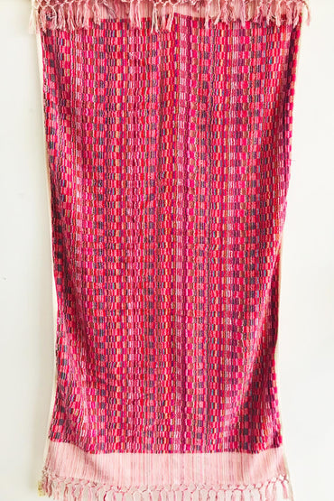 TURKISH OTTOMAN HAND LOOMED PINK LARGE TOWEL