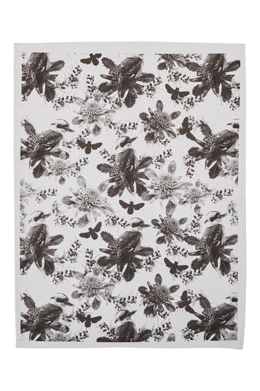 BONNIE & NEIL TEA TOWEL TINY KOOKA BLACK
