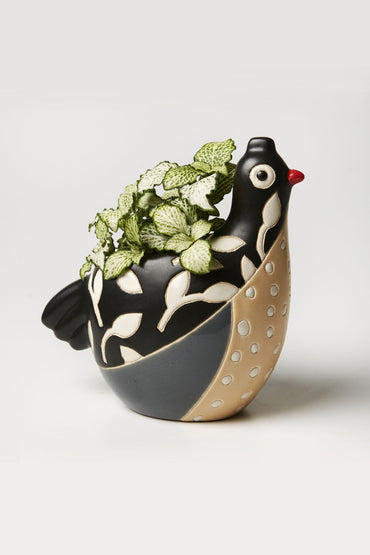 JONES & CO BIRDIE PLANTER BLACK