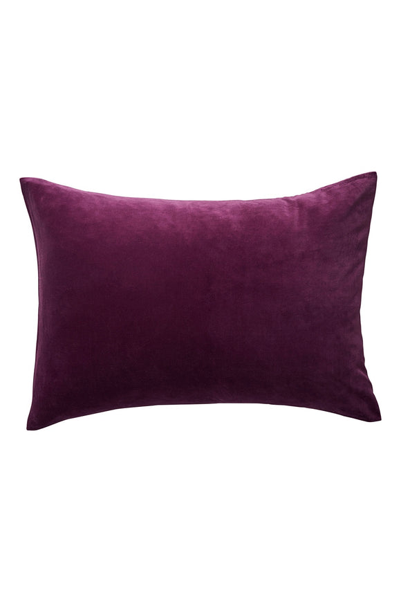 SAGE x CLARE SIMO VELVET PILLOWCASE BOYSENBERRY