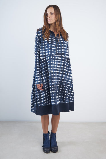 RUNDHOLZ BLACK LABEL MARTINIQUE HOODED DRESS