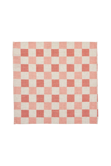 BONNIE & NEIL CHECKERS NAPKINS BLOSSOM (SET OF 6)