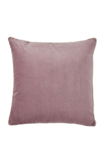BONNIE AND NEIL VELVET CUSHION MUSK 60 X 60CM