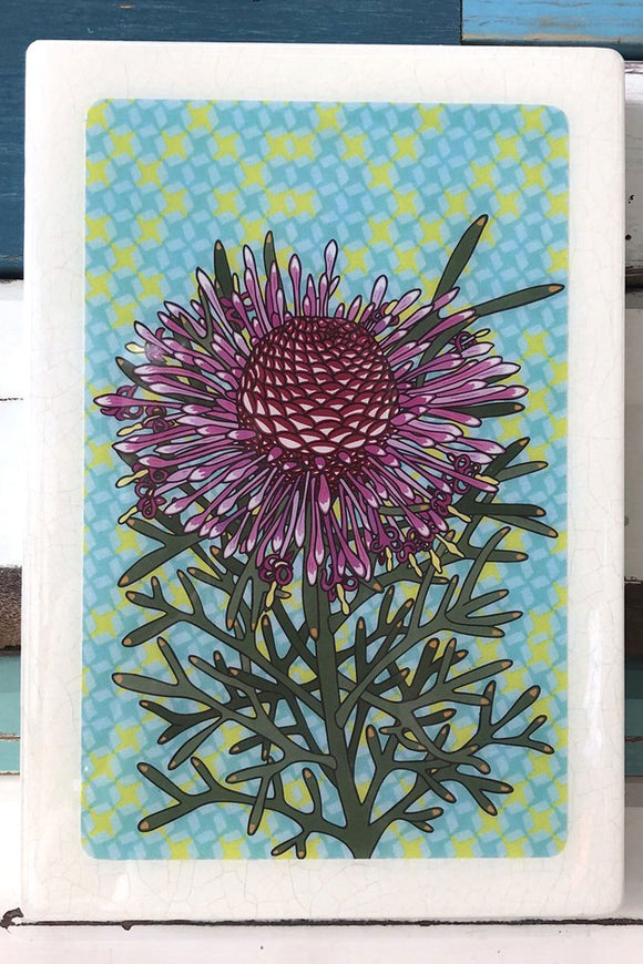 LOST & FOUND ART CO MAXI WOODBLOCK ROSE CONEFLOWER