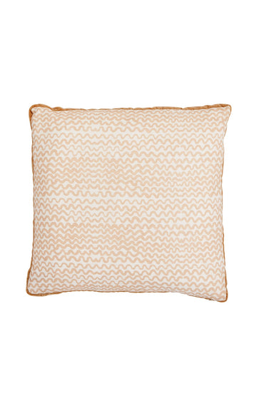 BONNIE AND NEIL TINY WAVES CUSHION BONE 50CM