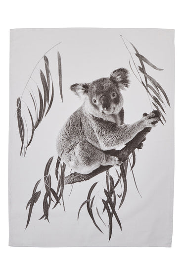 BONNIE & NEIL TEA TOWEL KOALA GUM BLACK