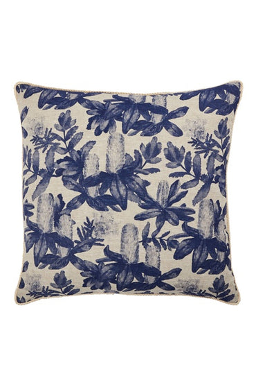 BONNIE & NEIL FC211 NATIVE GARDEN BLUE 60x60cm CUSHION