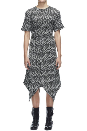 SABATINI ANIMAL PATTERN KNIT DRESS