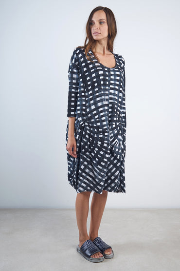 RUNDHOLZ BLACK LABEL MARTINIQUE PRINT DRESS