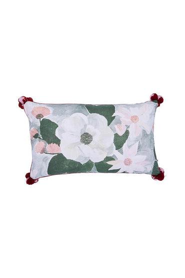 BONNIE & NEIL MAGNOLIA CUSHION OLIVE 75X45CM