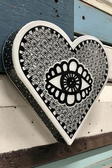 LOST & FOUND ART CO HEART WOODBLOCK EYE SPY