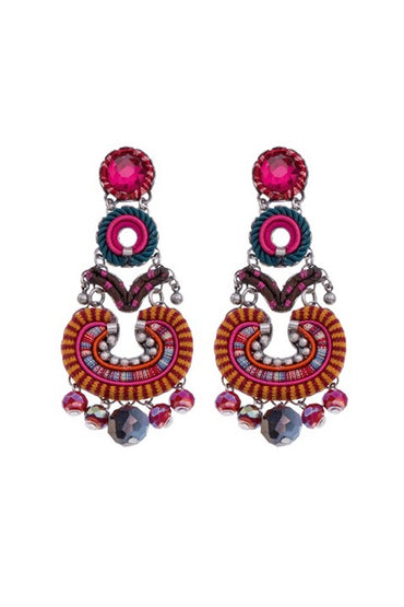 AYALA BAR H1003 EARRING MAGENTA/ORANGE