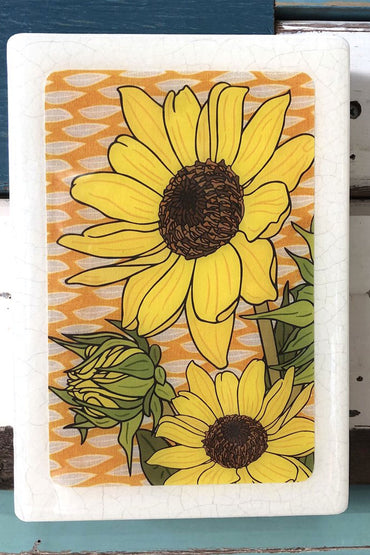 LOST & FOUND ART CO MEDI WOODBLOCK- SUNFLOWER