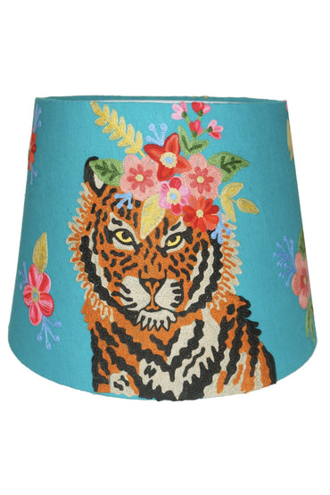 TIGER FLORAL GARLAND TAPERED SHADE TURQUOISE