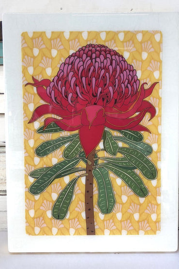 LOST & FOUND  ART CO XL WOODBLOCK - WARATAH