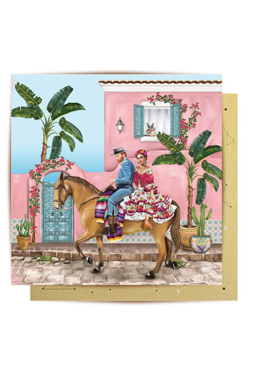 LA LA LAND GREETING CARD FRIDA & VAN GOGH IN MEXICO