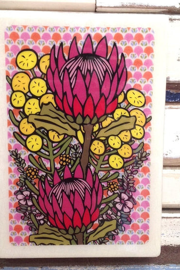LOST & FOUND  XL WOODBLOCK- WILDFLOWER BUNCH