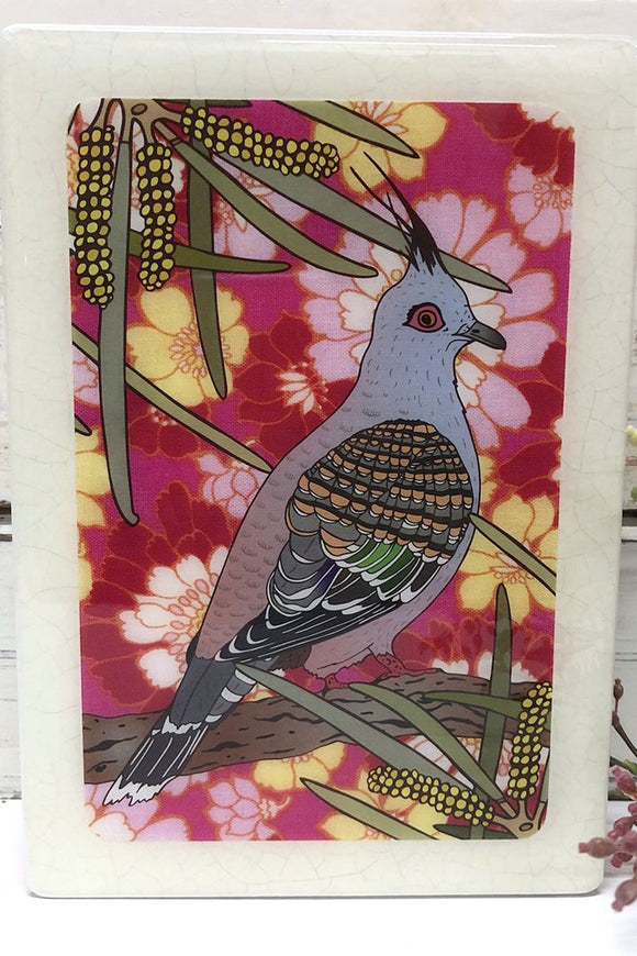 LOST & FOUND ART CO MEDI WOODBLOCK TOP NOTCH PIGEON