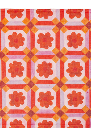 BONNIE & NEIL NAPKINS ASTER ORANGE (SET OF 6)