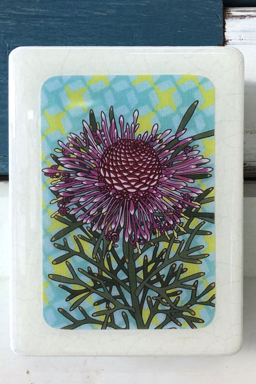 LOST & FOUND ART CO MINI WOODBLOCK - ROSE CONEFLOWER