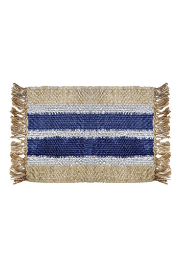 LANGDON COBALT BLUE STRIPE DOORMAT
