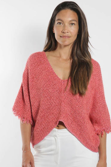 SABATINI CROP KNITTED TOP WATERMELON