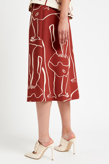 "OTTOD'AME ""CONTORSIONISTE"" PRINTING'S SKIRT"