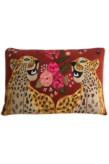RUBY STAR TRADERS CHEETAH 40 X 60 CUSHION RUST