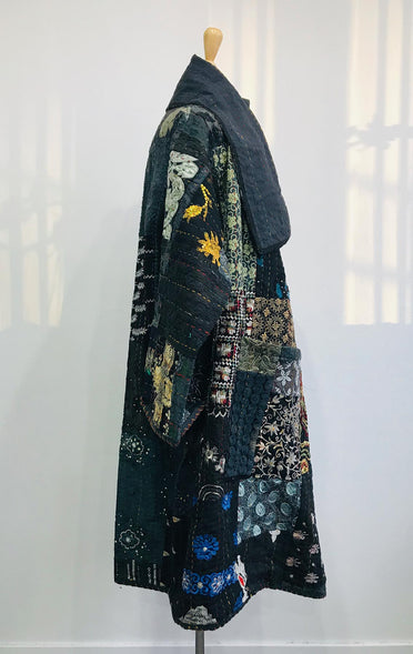 MAHARANI KANTHA COAT BLUE