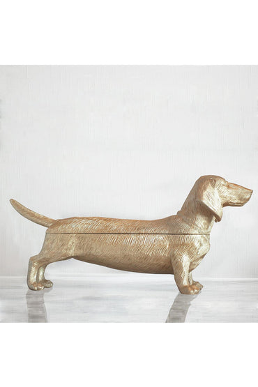 WHITE MOOSE DACHSHUND SECRET GOLD