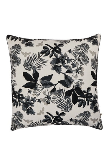 BONNIE & NEIL OD08 PALMS BLACK 60x60cm OUTDOOR CUSHION