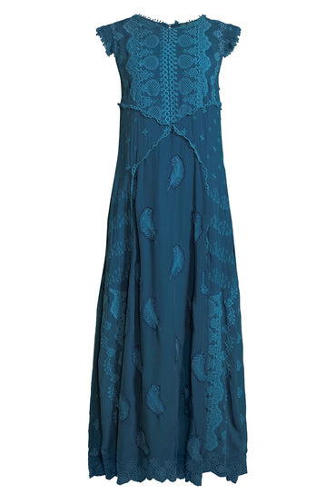 JOHNNY WAS XANAFA MAXI DRESS BLUE