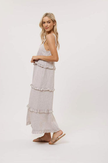 ALESSANDRA CLEMINTINE STRING MAXI DRESS