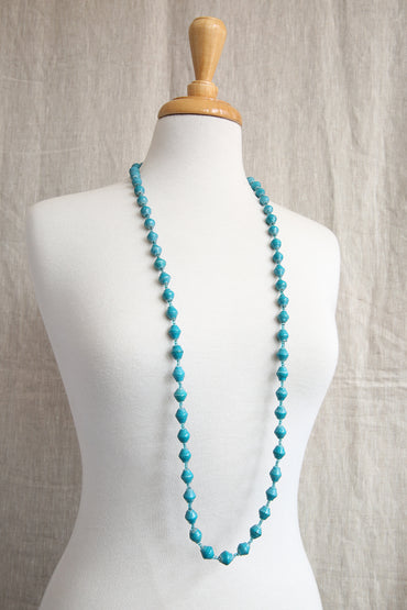 AFRI BEADS LONG SINGLE COLOUR NECKLACE