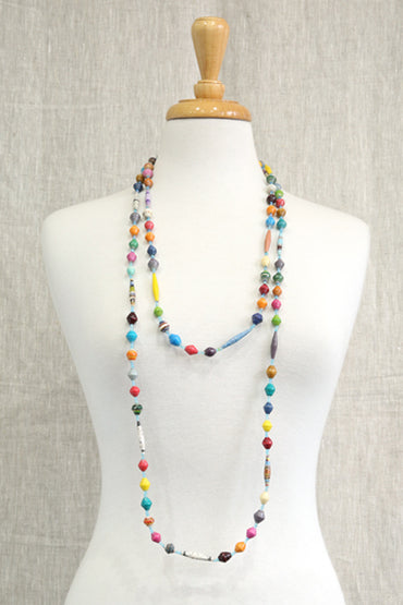 AFRI BEADS LONG MULTICOLOURED NECKLACE