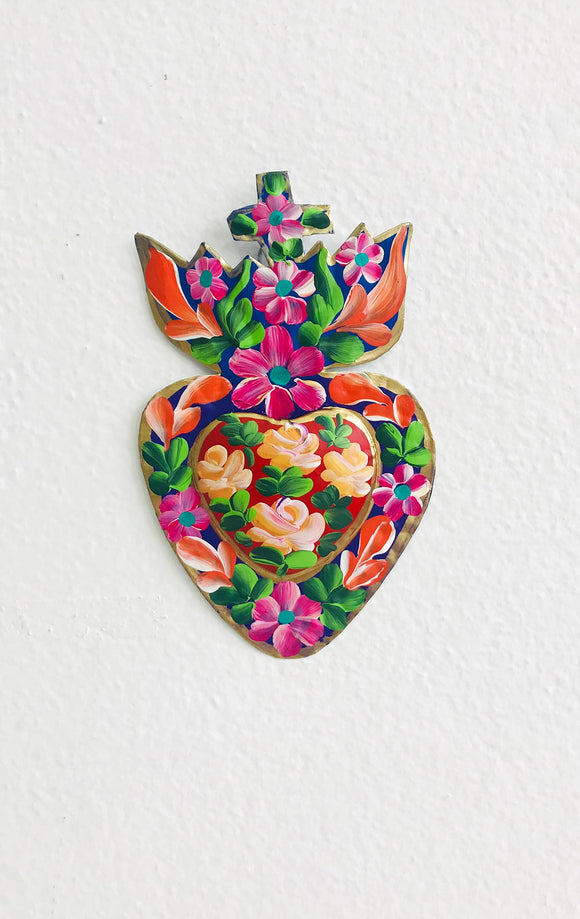 MEXICAN FOLK ART COLOUR MY HEART SMALL 1