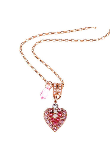 MARIANA ROSE GOLD HEART PENDANT NECKLACE