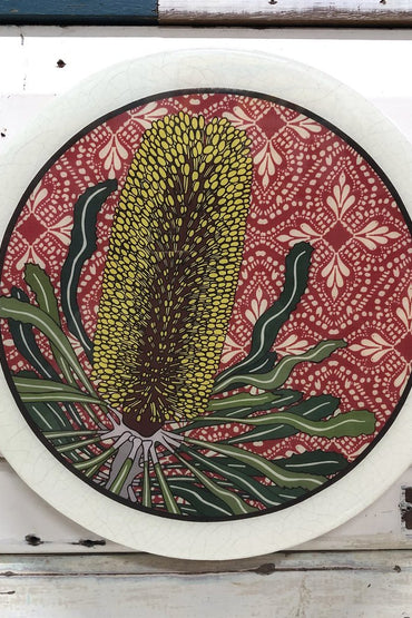 LOST & FOUND ROUNDY WOODBLOCK - CANDLESTICK BANKSIA