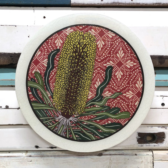 LOST & FOUND ART CO ROUNDY WOODBLOCK - CANDLESTICK BANKSIA