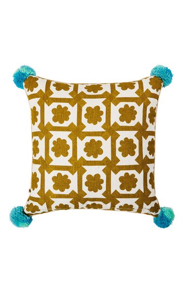 BONNIE & NEIL C2106 ASTER GREEN 50x50cm CUSHION