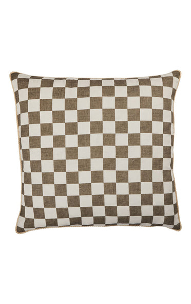 BONNIE & NEIL FC205 SMALL CHECKERS GREY 60cm x 60cm CUSHION