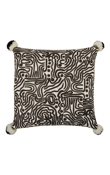 BONNIE & NEIL FC206 SWELL BLACK 60x60cm CUSHION