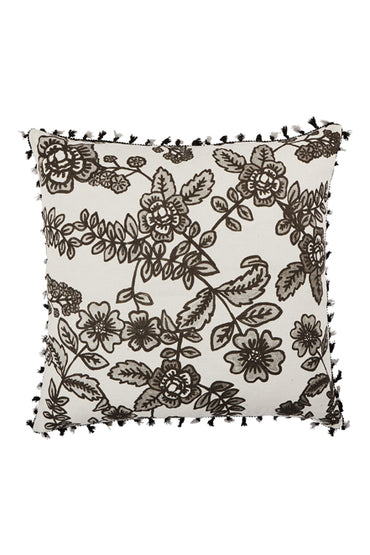 BONNIE & NEIL FC213 FLORA BLACK 60x60cm CUSHION