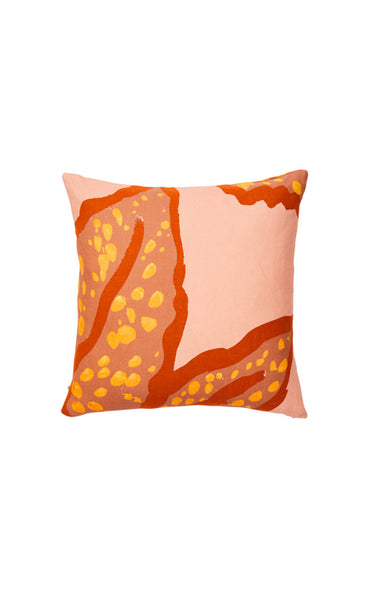 BONNIE & NEIL FC216 SPOTTED BEGONIA CLAY 60x60cm CUSHION