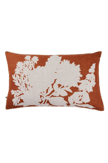 BONNIE AND NEIL FOXGLOVE CUSHION NUTMEG 75 X 45CM